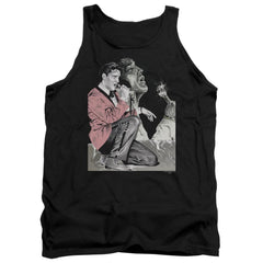 Elvis Rock N Roll Smoke Adult Tank Top