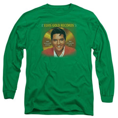 Elvis Gold Records Adult Long Sleeve T-Shirt