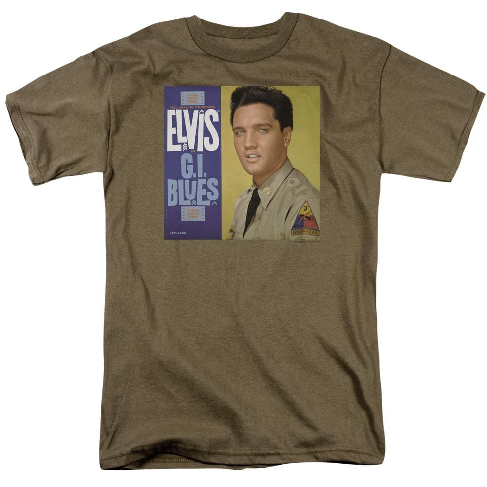 Elvis G I Blues Album Adult Regular Fit T-Shirt