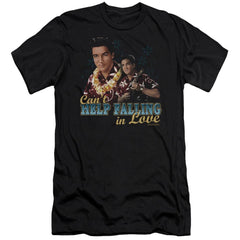 Elvis Can't Help Falling Adult Slim Fit T-Shirt