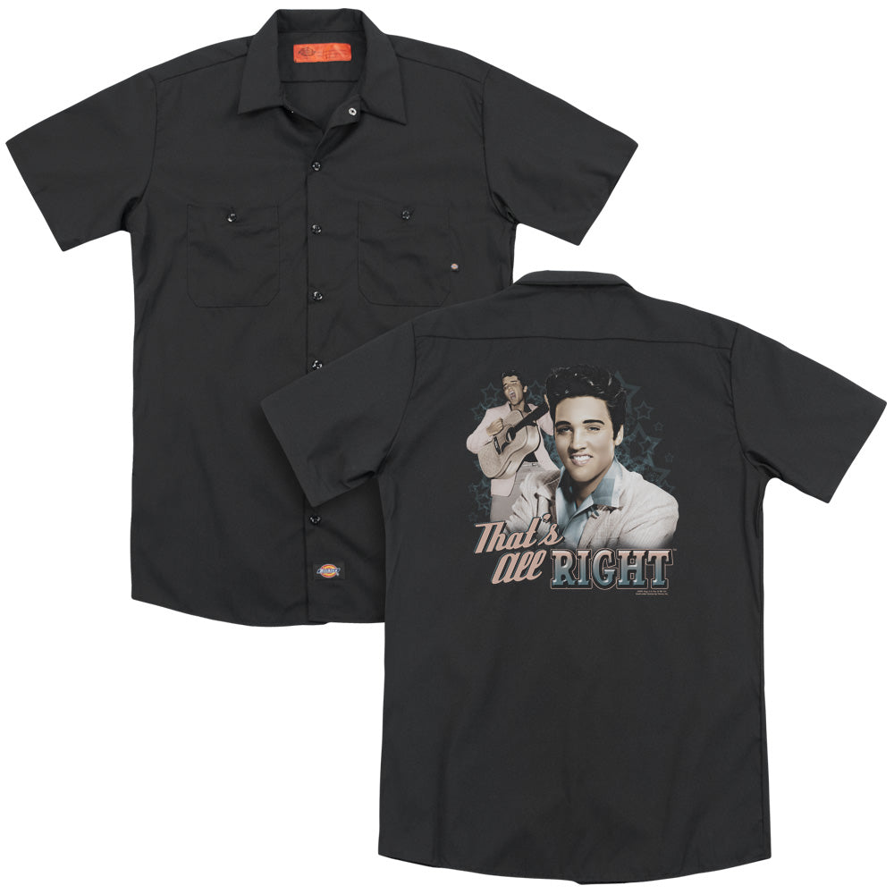 Elvis That's All Right Adult Work Shirt