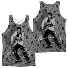 Elvis Rockin All Over Adult Tank Top