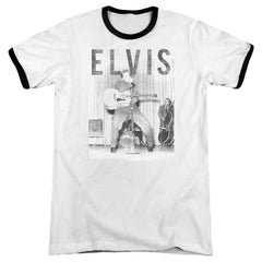 Elvis - With The Band Adult Ringer T- Shirt