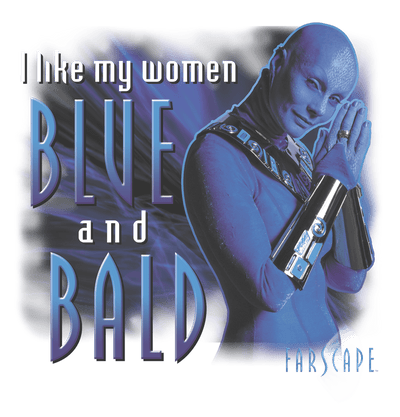 Farscape Blue And Bald Youth T-Shirt (Ages 8-12)