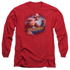 The Flash Fastest Man Adult Long Sleeve T-Shirt