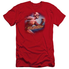 The Flash - Fastest Man Premium Adult Slim Fit T-Shirt
