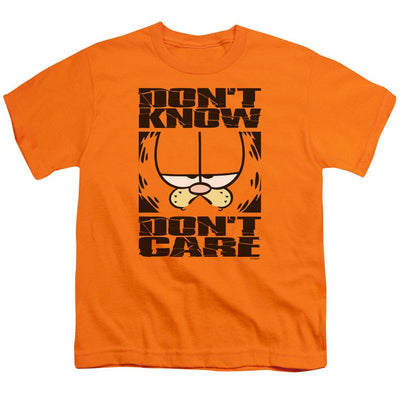 Garfield Dont Know Dont Care Youth T-Shirt (Ages 8-12)