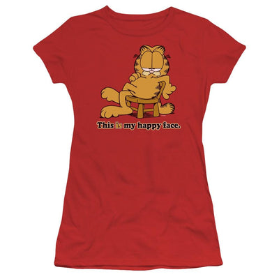 Garfield Happy Face Juniors T-Shirt