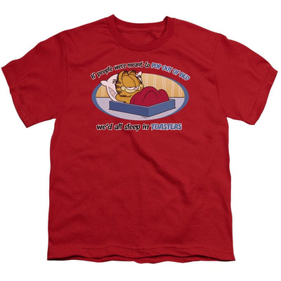 Garfield Pop Out Of Bed Youth T-Shirt (Ages 8-12)