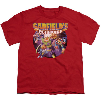 Garfield Pet Force Four Youth T-Shirt (Ages 8-12)