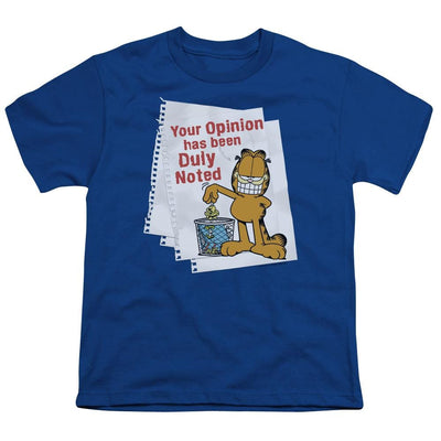 Garfield Duly Noted Youth T-Shirt (Ages 8-12)
