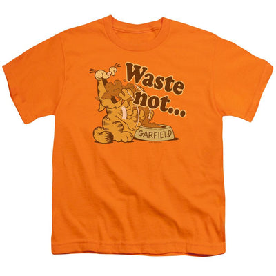 Garfield Waste Not Youth T-Shirt (Ages 8-12)