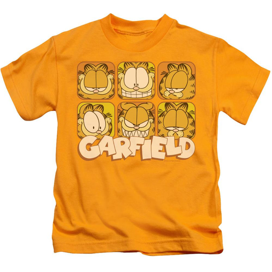Garfield Many Faces Kid's T-Shirt (Ages 4-7)