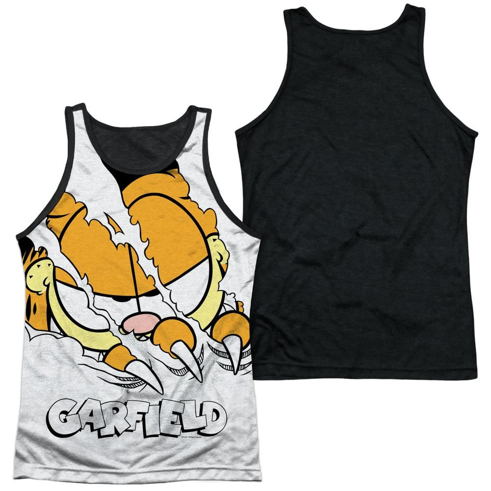 Garfield - Torn Adult Tank Top