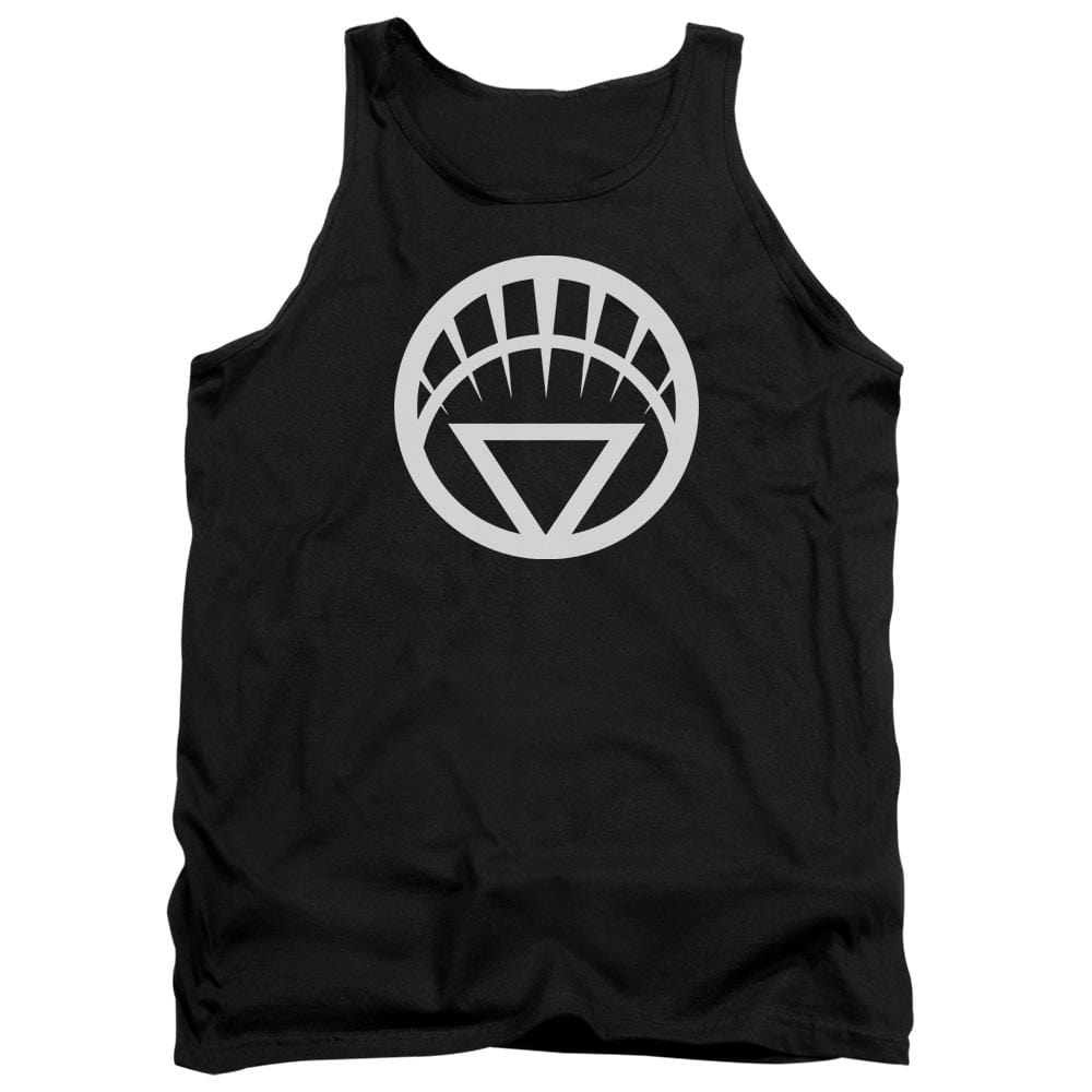 Green Lantern White Emblem Adult Tank Top