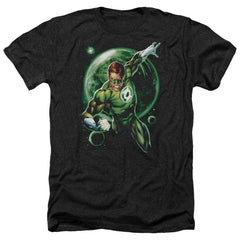 Green Lantern Galaxy Glow Adult Regular Fit Heather T-Shirt