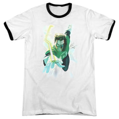 Green Lantern Clouds Adult Ringer T-Shirt