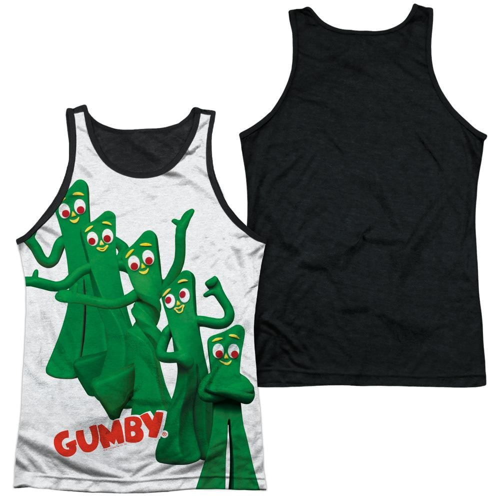 Gumby Moves Adult Black Back Tank top