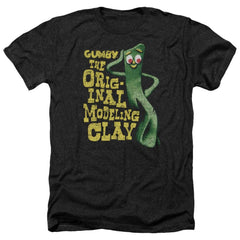 Gumby So Punny Adult Regular Fit Heather T-Shirt
