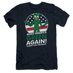 Gumby For President Adult Slim Fit T-Shirt