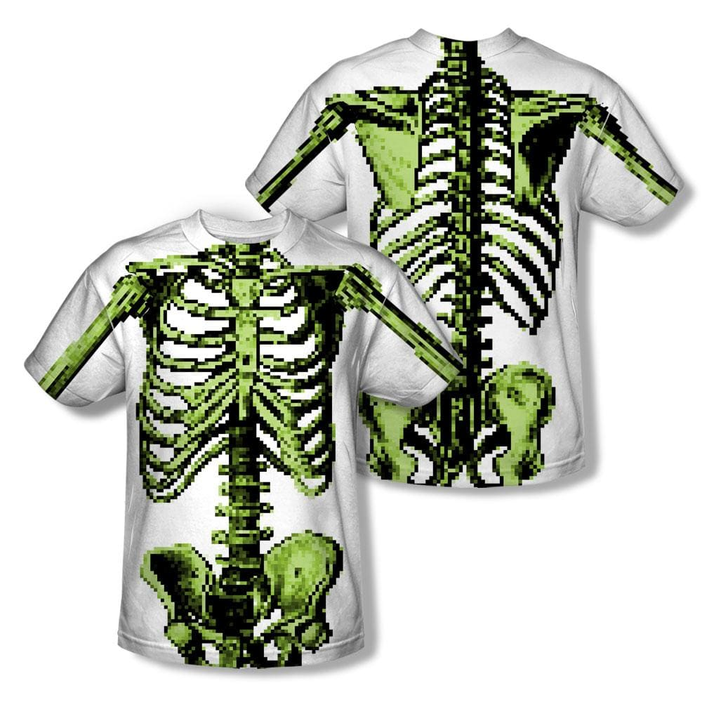 8 Bit Skeleton Youth All Over Print 100% Poly T-Shirt