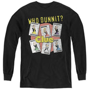 Hasbro Who Dunnit - Youth Long Sleeve T-Shirt