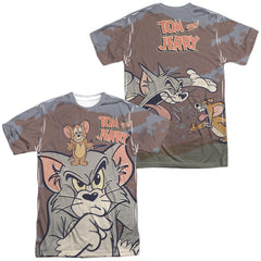 Tom And Jerry Up To No Good Adult All Over Print 100% Poly T-Shirt