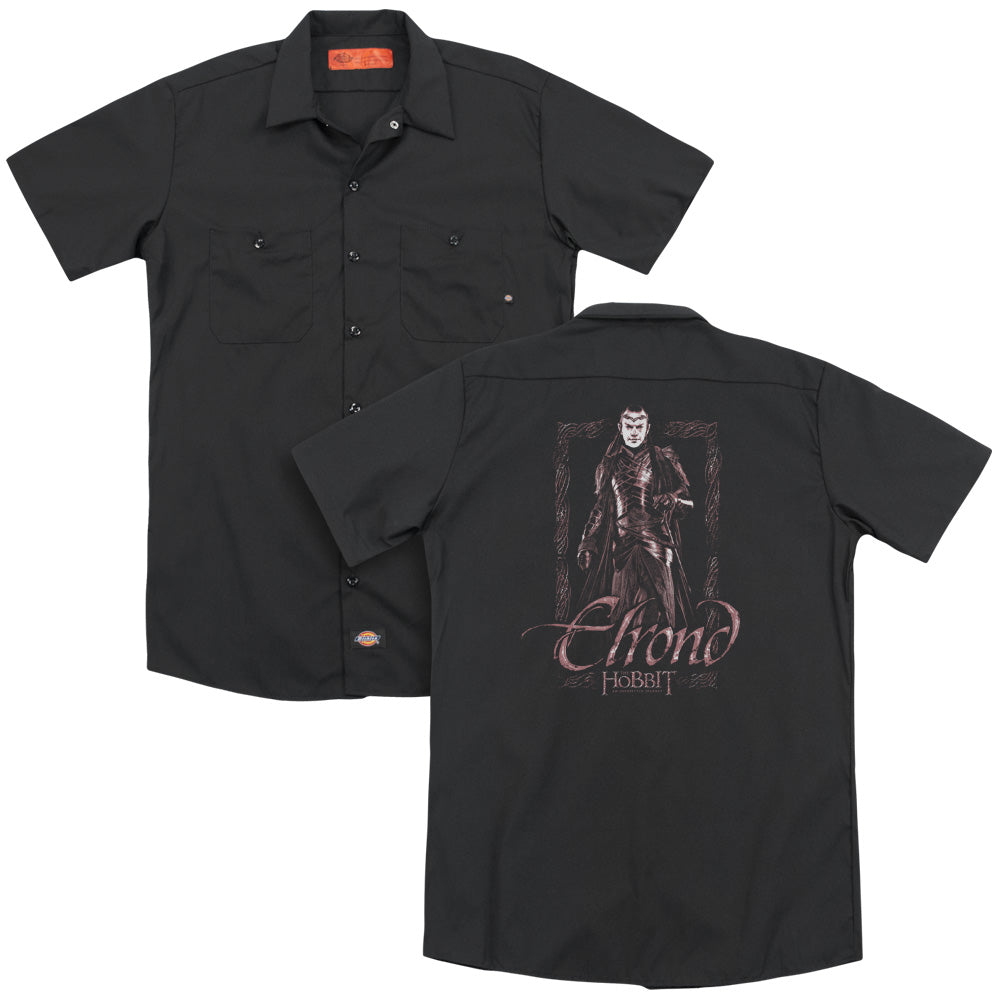 The Hobbit - Elrond Stare  Adult Work Shirt