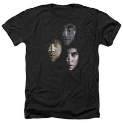 Harry Potter - Hero Heads Adult Regular Fit Heather T-Shirt
