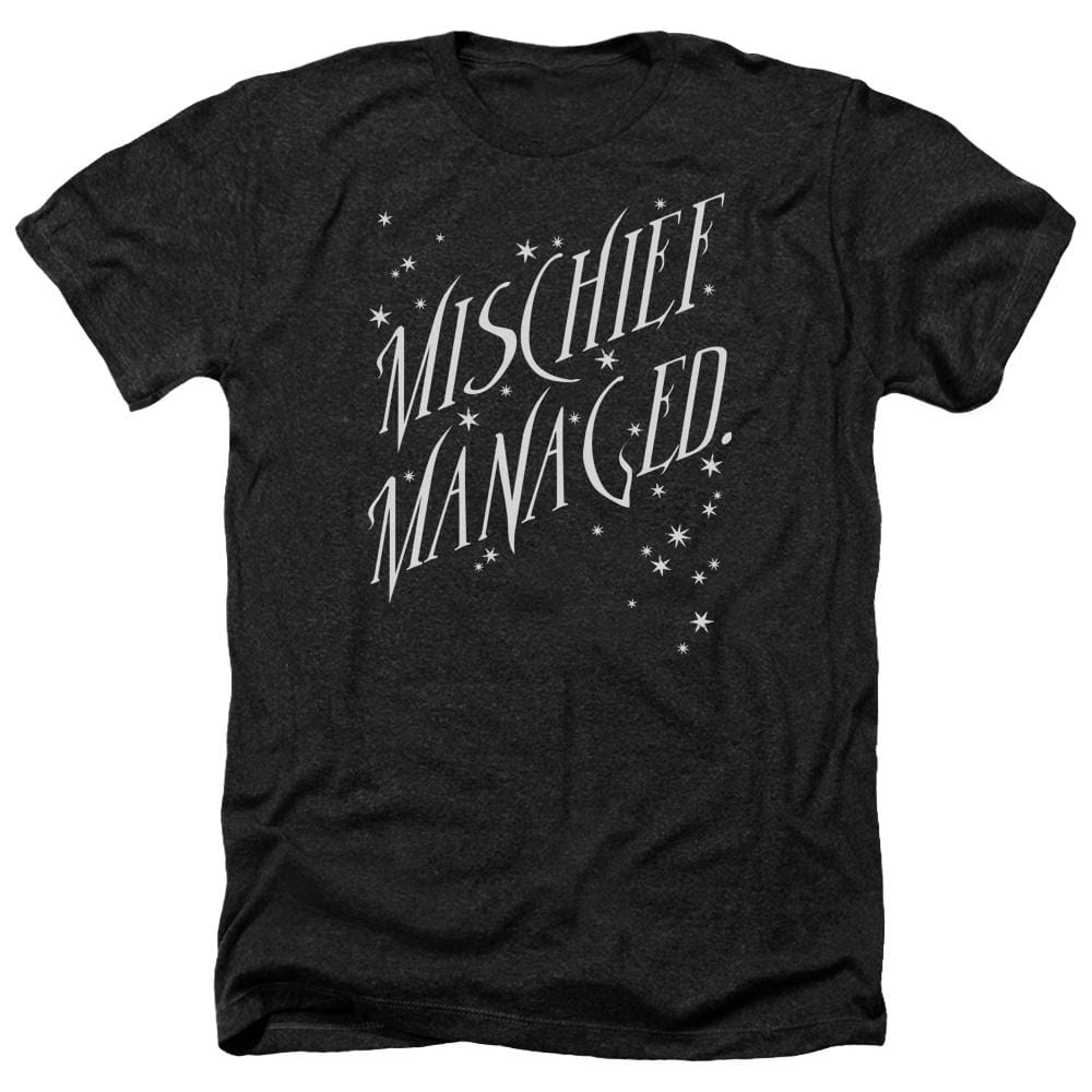 Harry Potter - Mischief Managed 4 Adult Regular Fit Heather T-Shirt