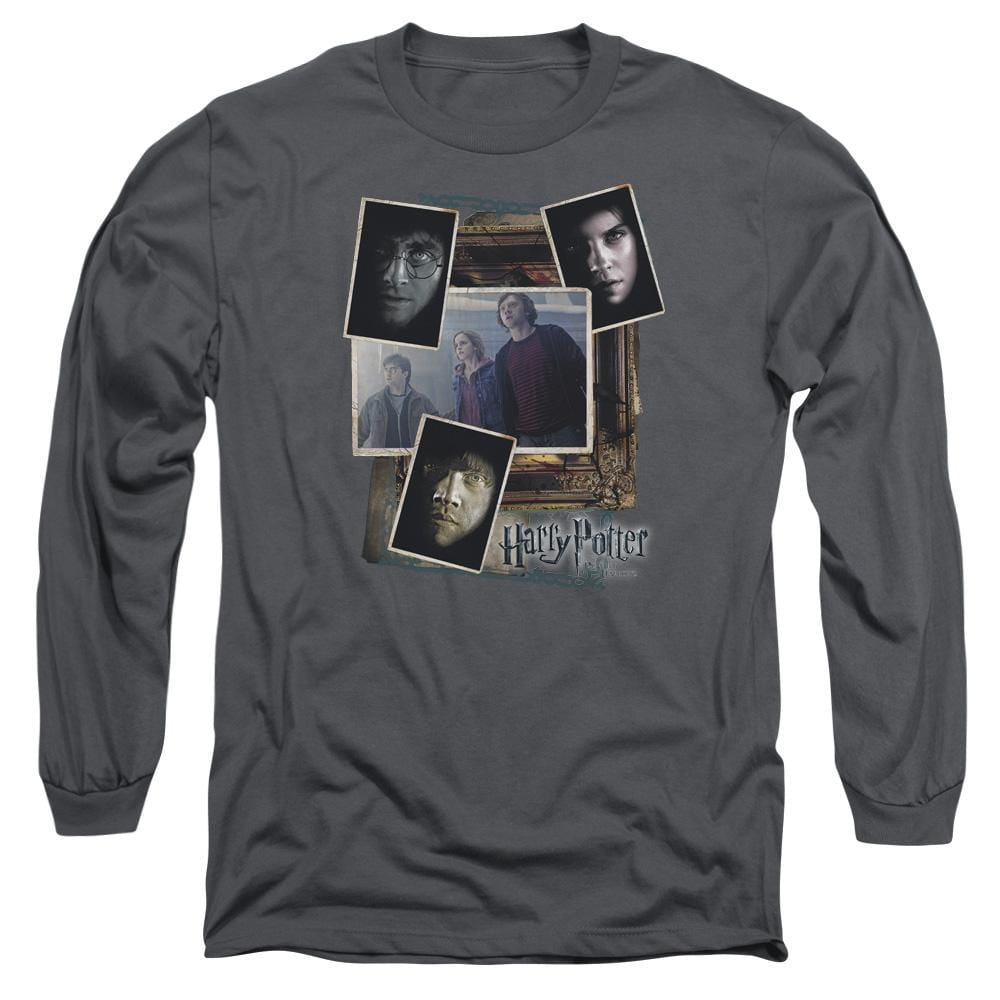 Harry Potter - Trio Collage Adult Long Sleeve T-Shirt