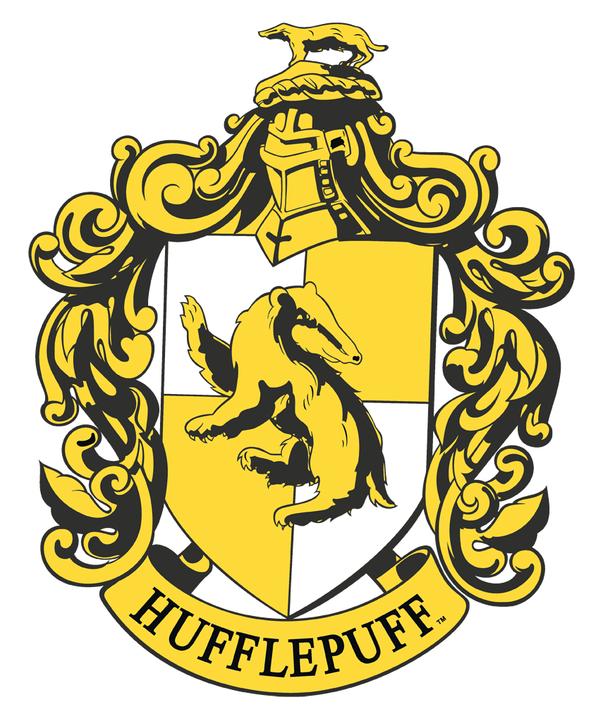 Harry Potter Hufflepuff Crest Charcoal Licensed Adult T-Shirt