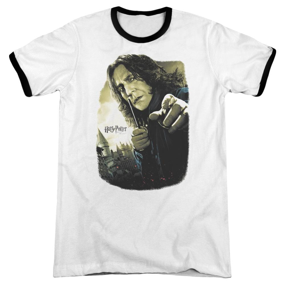 Harry Potter - Snape Poster Adult Ringer T- Shirt