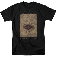 Harry Potter - Marauder's Map Words Adult Regular Fit T-Shirt