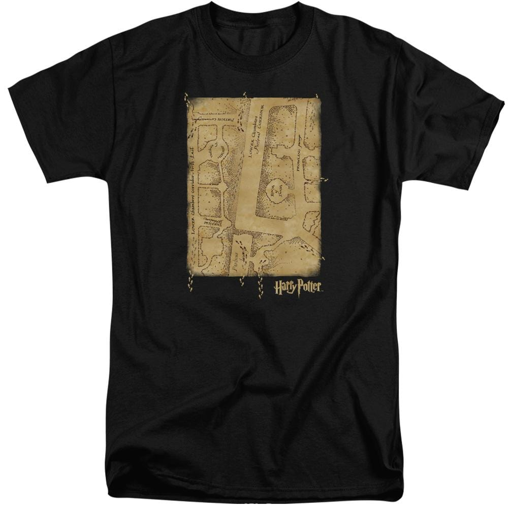 Harry Potter - Marauder's Map Interior Adult Tall Fit T-Shirt