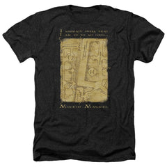 Harry Potter - Marauder's Map Interior Words Adult Regular Fit Heather T-Shirt