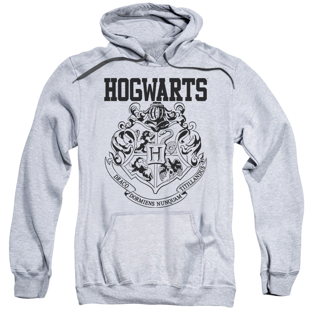 harry potter hogwarts athletic adult pull over hoodie. Black Bedroom Furniture Sets. Home Design Ideas