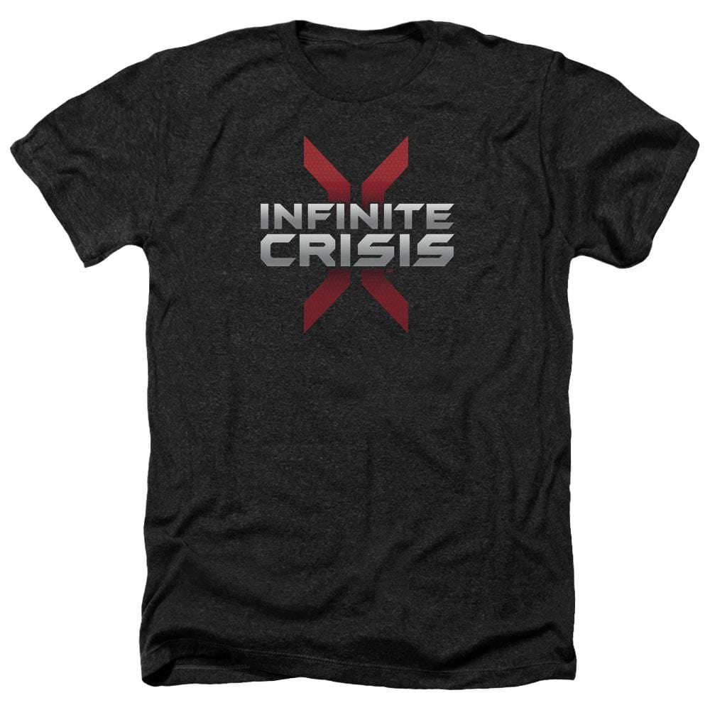 Infinite Crisis Logo Adult Regular Fit Heather T-Shirt
