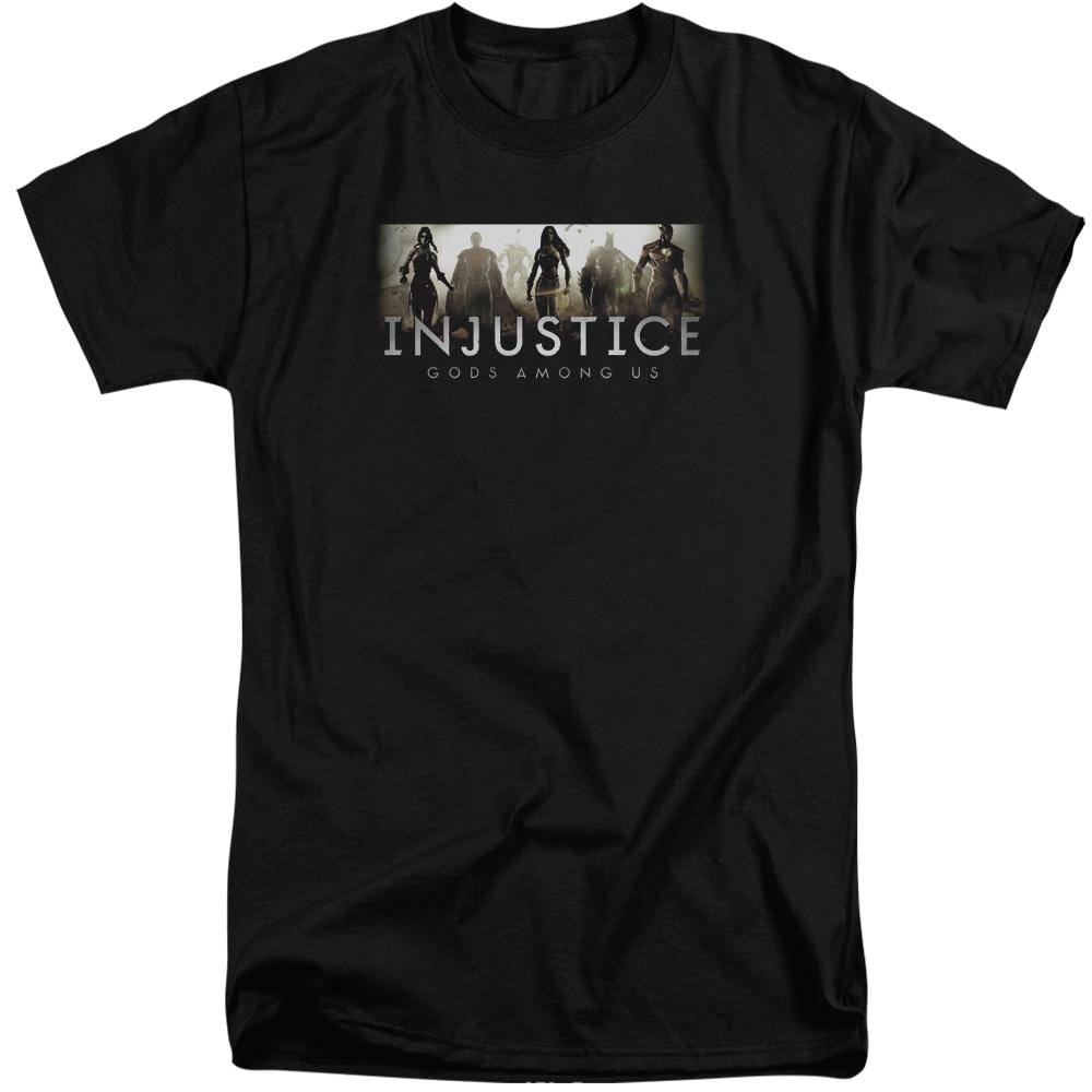 Injustice Gods Among Us - Logo Adult Tall Fit T-Shirt