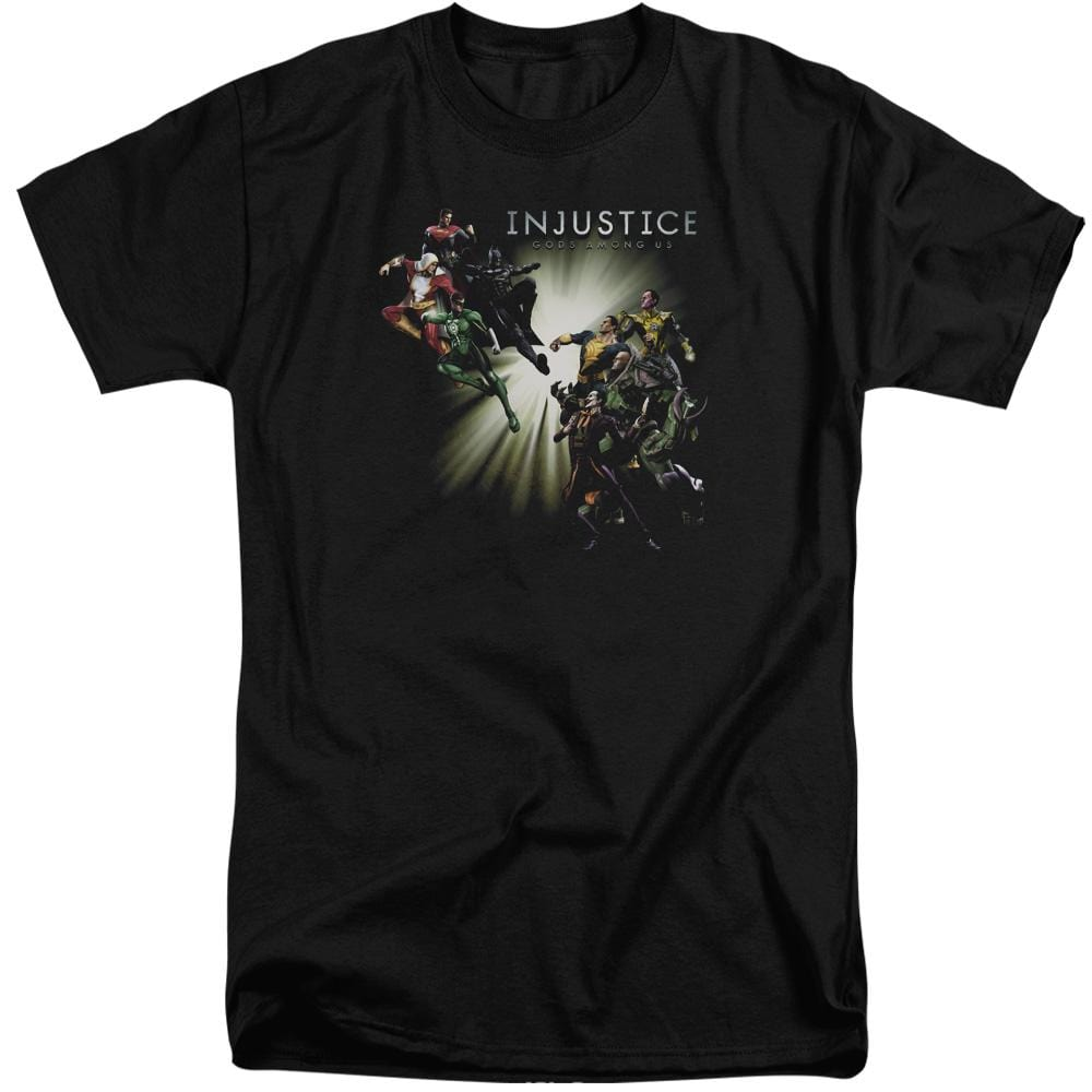 Injustice Gods Among Us Good Vs Evils Adult Tri-Blend T-Shirt