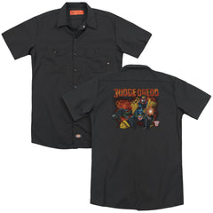 Judge Dredd Through Fire Adult Work Shirt
