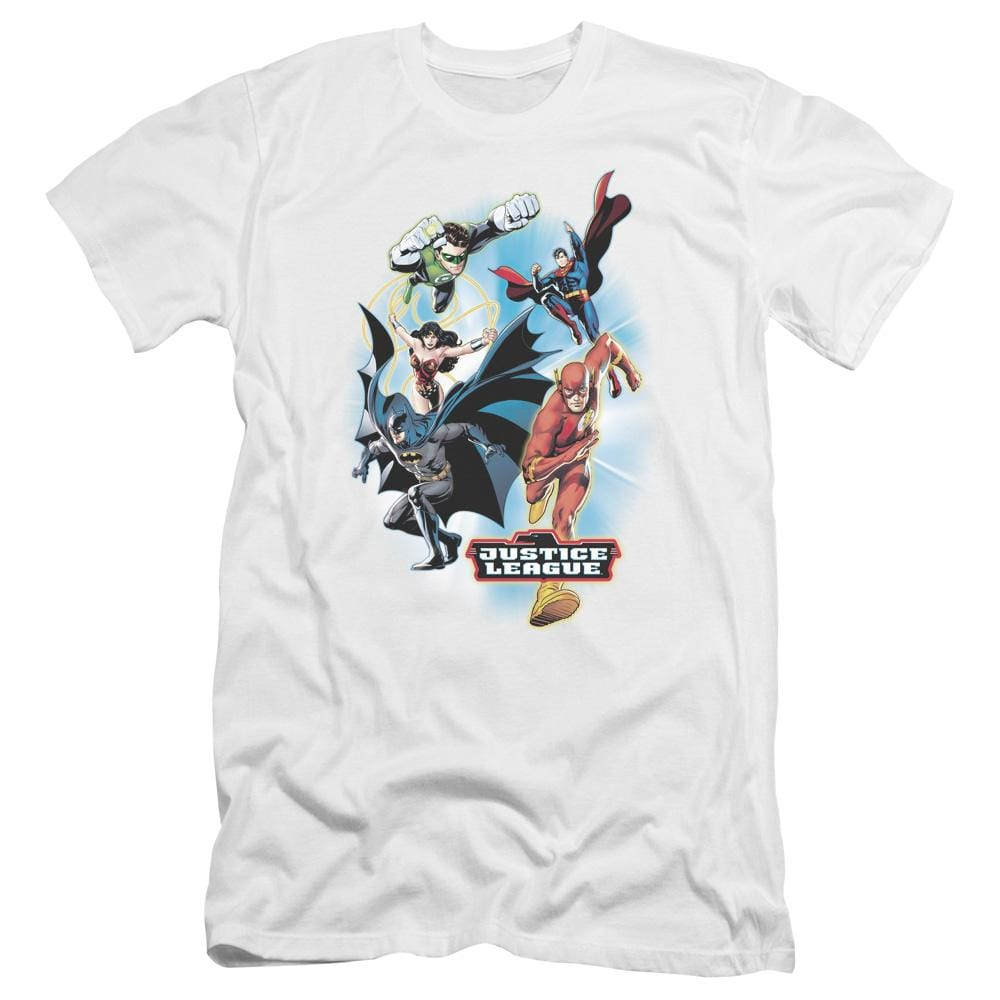 Justice League - At Your Service Premium Adult Slim Fit T-Shirt