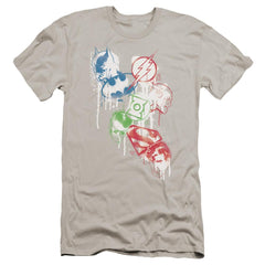 Jla Splatter Icons Premium Adult Slim Fit T-Shirt