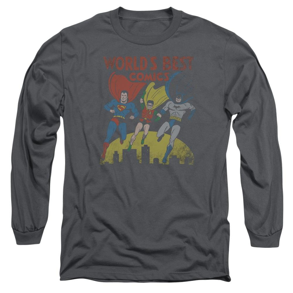Jla World's Best Adult Long Sleeve T-Shirt