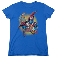 Jla - Superman Collage Women's T-Shirt