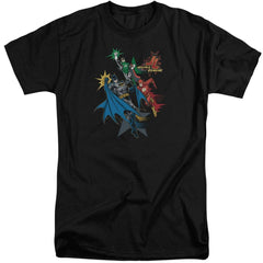 Jla Action Stars Adult Tall Fit T-Shirt