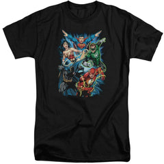 Jla Jl Assemble Adult Tall Fit T-Shirt