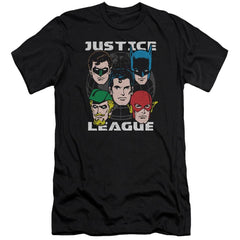 Jla Head Of States Premium Adult Slim Fit T-Shirt