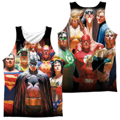 Justice League - Wall Of Heroes Adult Tank Top