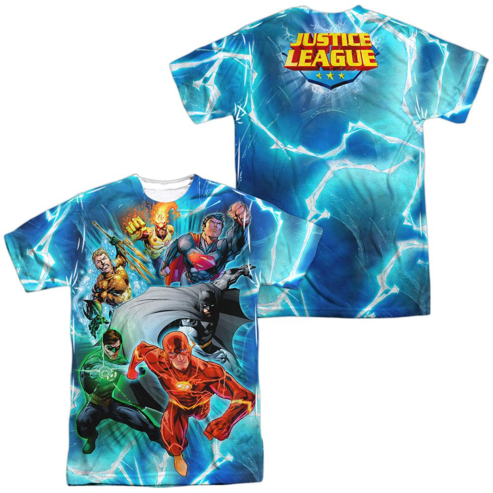 Justice League - Lightning Team Adult All Over Print 100% Poly T-Shirt